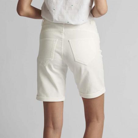 Nümph Short, Florida, Bright White, Numph tøj, shorts til kvinder - Bagfra