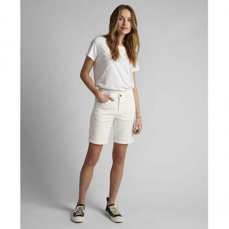 Nümph Short, Florida, Bright White, Numph tøj, shorts til kvinder - Front