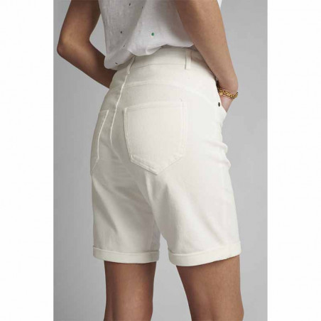 Nümph Short, Florida, Bright White, Numph tøj, shorts til kvinder - Lommer