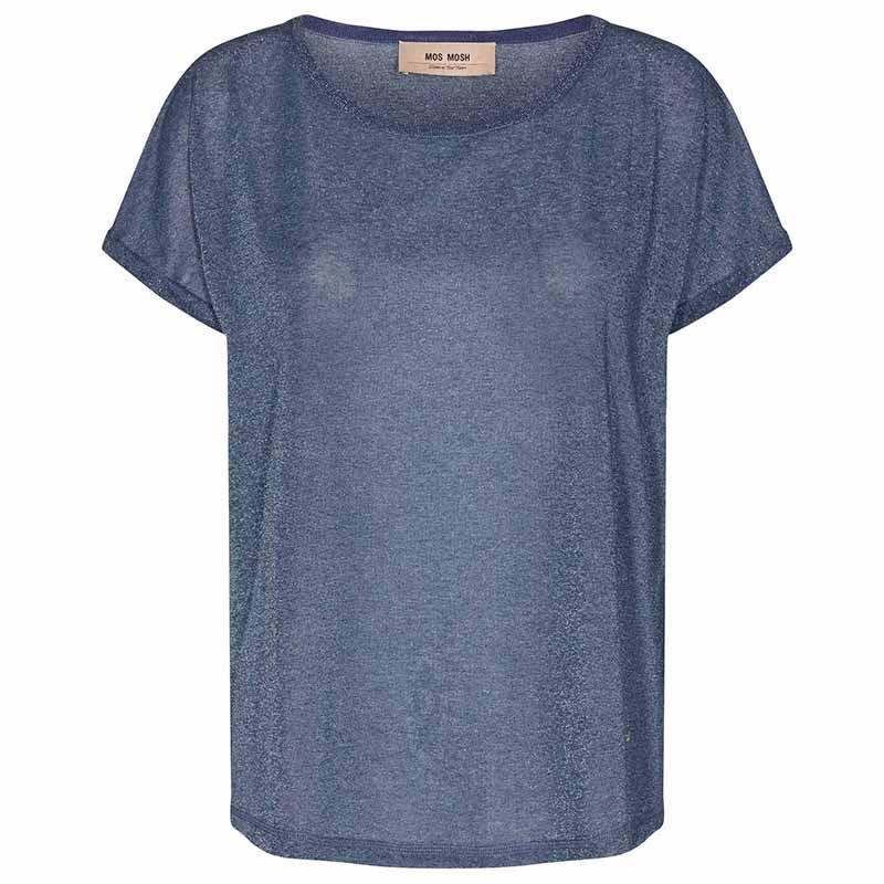 Mos Mosh T-shirt, Kay, Vintage Indigo - sommertop
