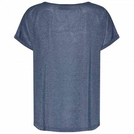 Mos Mosh T-shirt, Kay, Vintage Indigo - sommertop - bagside
