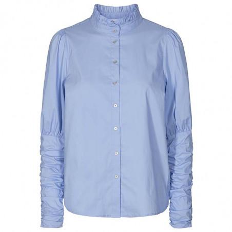 Co'Couture Skjorte, Sandy Poplin Puff, Pale Blue