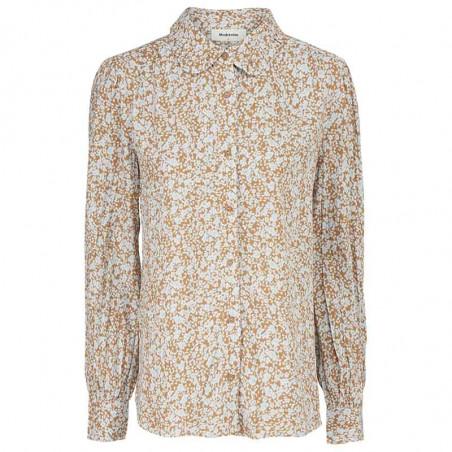 Modström Skjorte, Isa, Bluebell, skjorter med print, skjorter med flæsekrave