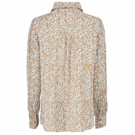 Modström Skjorte, Isa, Bluebell, skjorter med print, skjorter med flæsekrave - Bagside