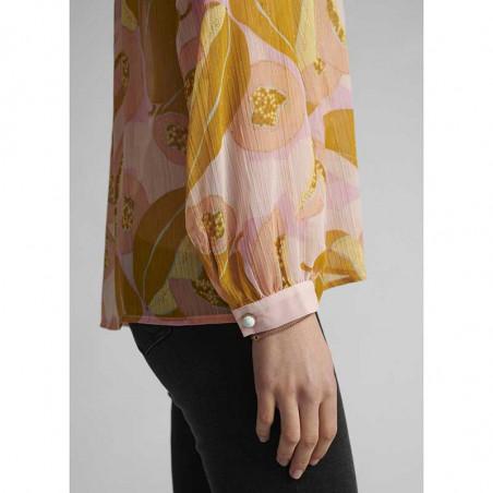 Nümph Bluse, Nucamden, Peach Skin, numph tøj - knapper