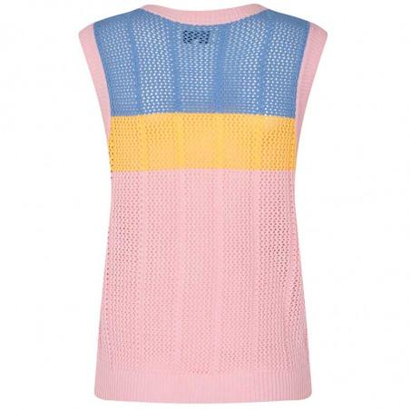 Nümph Vest, Nucherry, Lilac Chiffon, numph tøj, Nümph strik, strikveste - bagside