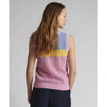 Nümph Vest, Nucherry, Lilac Chiffon, numph tøj, Nümph strik, strikveste - bagfra