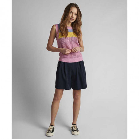 Nümph Vest, Nucherry, Lilac Chiffon, numph tøj, Nümph strik, strikveste - numph nederdel