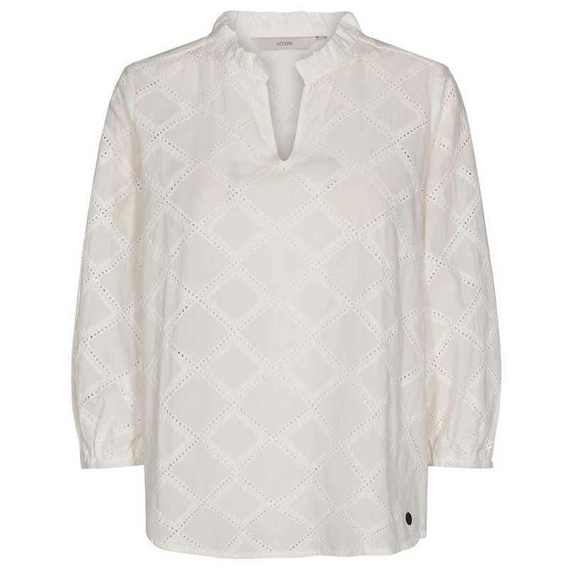 Nümph Bluse, Nubethan, Bright White, numph tøj