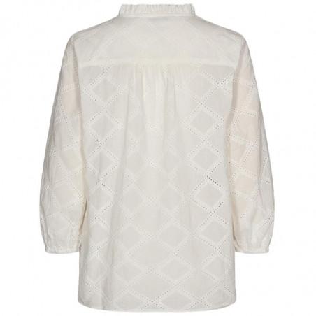 Nümph Bluse, Nubethan, Bright White, numph tøj - bagside