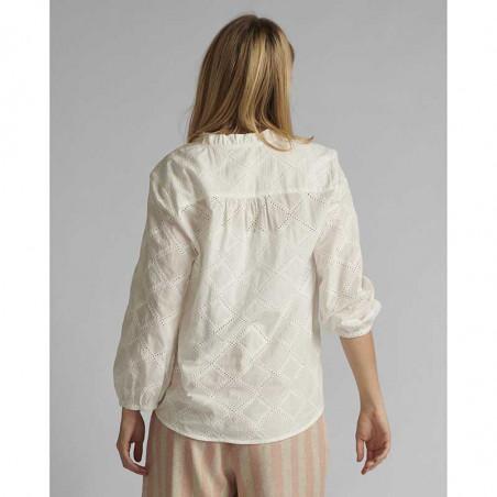 Nümph Bluse, Nubethan, Bright White, numph tøj - bagfra