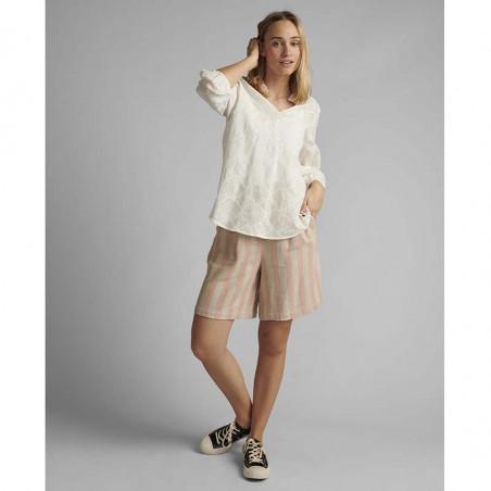 Nümph Bluse, Nubethan, Bright White, numph tøj - front
