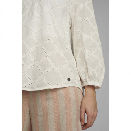 Nümph Bluse, Nubethan, Bright White, numph tøj - detaljer