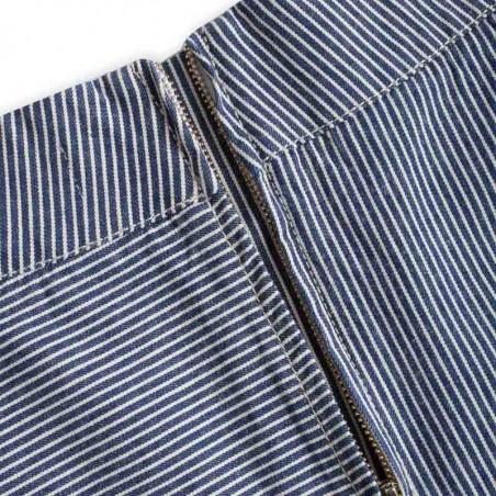 Mads Nørgaard Nederdel, Stelly C, Blue Stripe - Lynlås