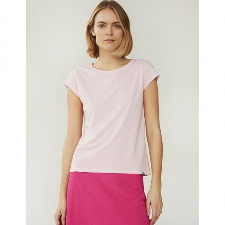 Mads Nørgaard T-Shirt, Teasy Organic Favorite, Light Pink - model