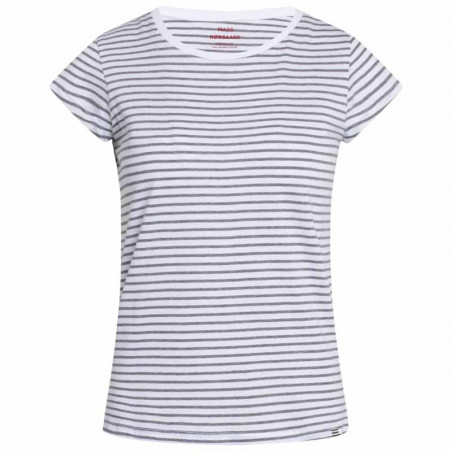 Mads Nørgaard T-Shirt, Teasy Organic Stripe, White/Grey Melange