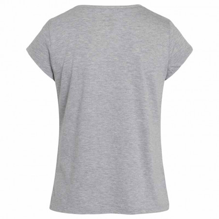 Mads Nørgaard T-Shirt, Teasy Organic Favorite, Grey Melange - Bagside