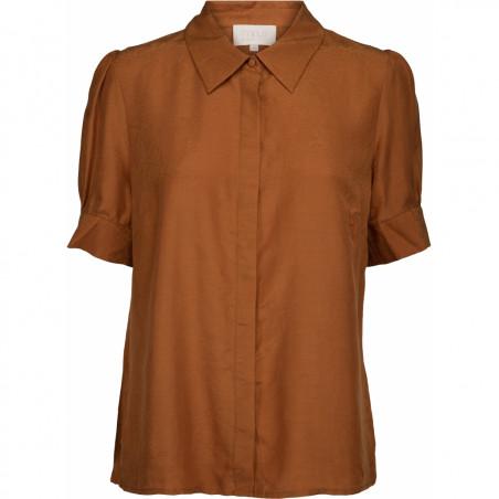Minus Skjorte, Safika, Burned Hazel, kortærmede skjorte - forside