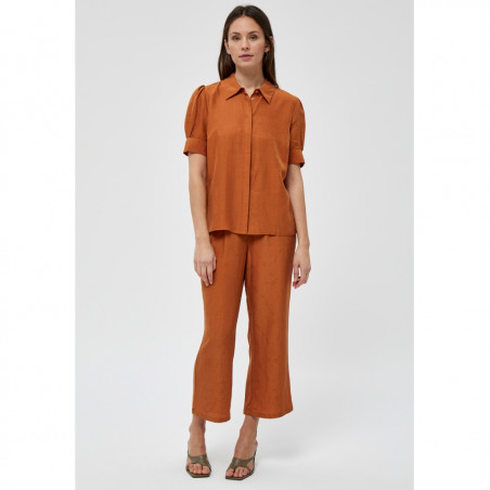 Minus Skjorte, Safika, Burned Hazel, kortærmede skjorte - model