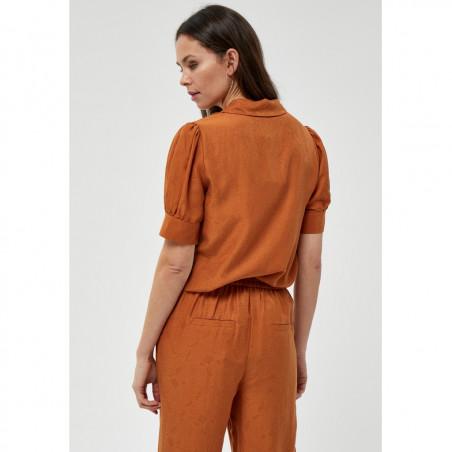 Minus Skjorte, Safika, Burned Hazel, kortærmede skjorte - Bagside