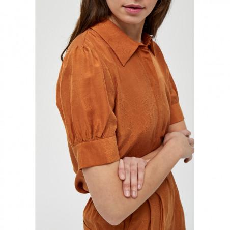 Minus Skjorte, Safika, Burned Hazel, kortærmede skjorte - ærmer
