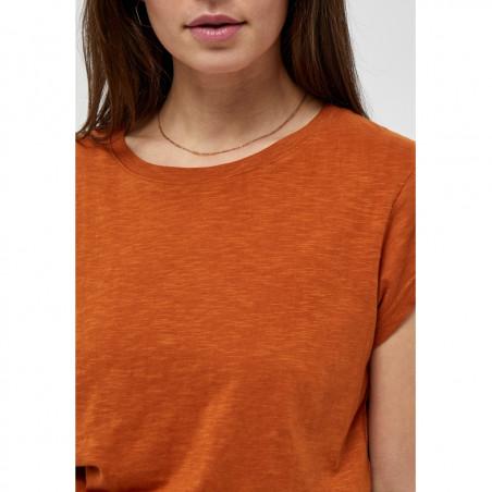 Minus T-shirt, Leti, Burned Hazel, kortærmede T-shirt - Detaljer
