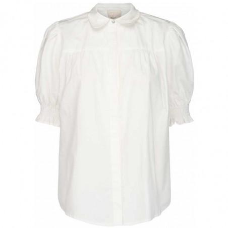 Minus Skjorte, Alette, Cloud Dancer, kortærmede skjorter - forside