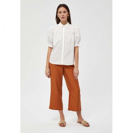 Minus Skjorte, Alette, Cloud Dancer, kortærmede skjorter - front