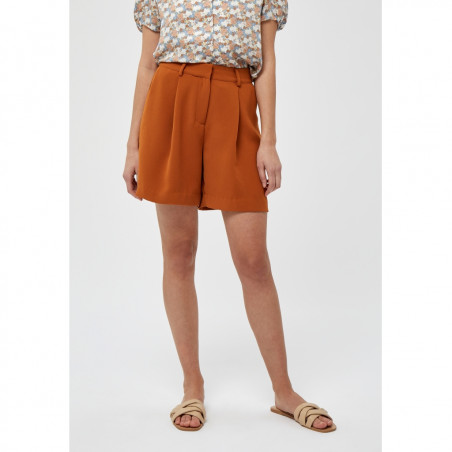 Minus Shorts, Silka, Burned Hazel, front