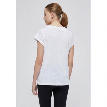 Minus T-shirt, Leti, White Minus basis top - Leti i hvid ryg