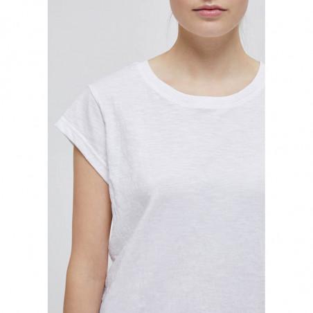 Minus T-shirt, Leti, White Minus basis top - Leti i hvid detalje