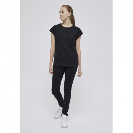 Minus T-shirt, Leti, Black Sort basis t-shirt look