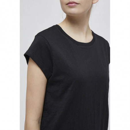 Minus T-shirt, Leti, Black Sort basis t-shirt detalje