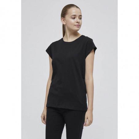 Minus T-shirt, Leti, Black Sort basis t-shirt på model