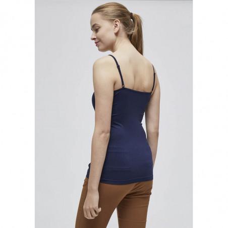 Minus Top, Celina, Black Iris Ninus basis top i mørk blå ryg