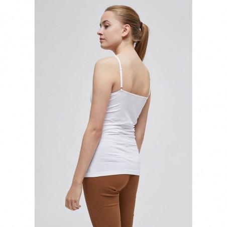 Minus Top, Celina, White - Minus basis top i hvid ryg