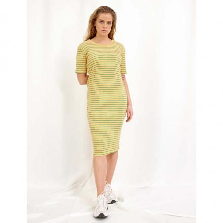 Hunkøn Kjole, Felipa, Yellow Striped, sommerkjole, hverdagskjole, model
