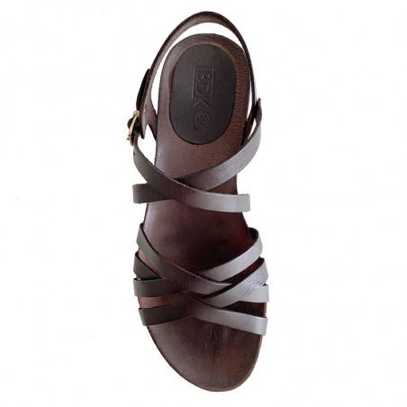 LBDK Sandaler, Skind Sandal m/remme  i mørke brunt læder