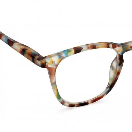 Izipizi Briller, E Reading, Blue Tortoise - unisex læsebriller detalje