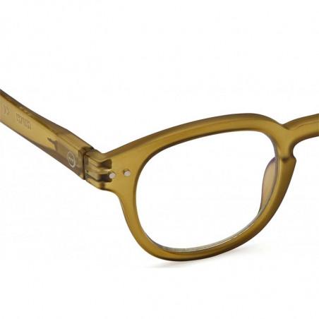 Izipizi Briller, C Reading, Bottle Green Læsebriller med styrke detalje
