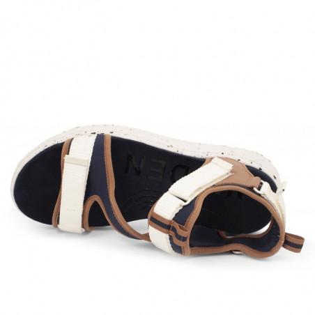 Woden Sandaler, Emilie, Navy, flade sandaler, sandaler med velcro - oppe fra