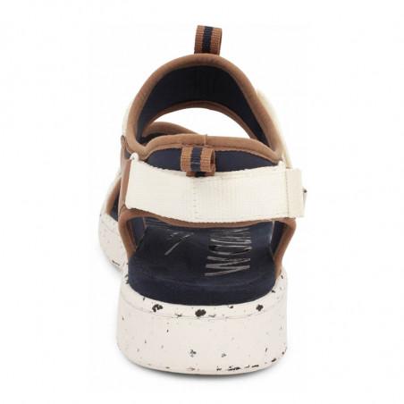 Woden Sandaler, Emilie, Navy, flade sandaler, sandaler med velcro - hæl