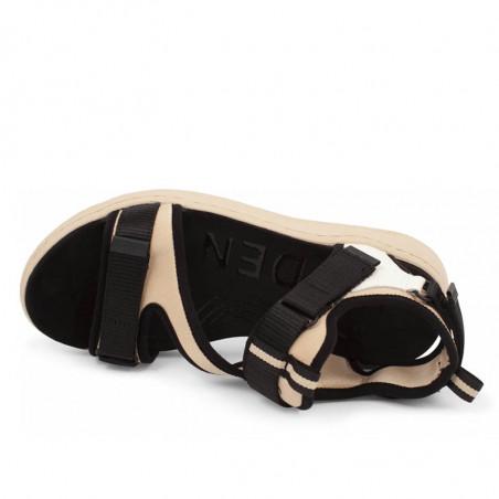 Woden Sandaler, Emilie, Beige, flade sandaler, sandaler med velcroremme, sandaler til remme, sporty sandaler - oppe fra
