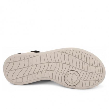 Woden Sandaler, Emilie, Beige, flade sandaler, sandaler med velcroremme, sandaler til remme, sporty sandaler - sål