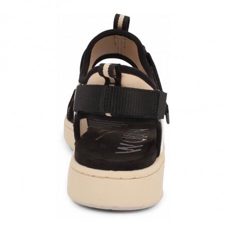 Woden Sandaler, Emilie, Beige, flade sandaler, sandaler med velcroremme, sandaler til remme, sporty sandaler - hæl