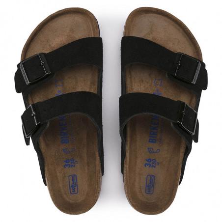 Birkenstock Sandaler, Arizona Blød Fodseng, Black, flade sandaler, sandaler til kvinder, birkenstock til kvinder - oppe fra