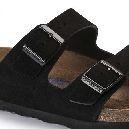 Birkenstock Sandaler, Arizona Blød Fodseng, Black, flade sandaler, sandaler til kvinder, birkenstock til kvinder - metalspænder