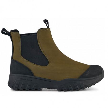 Woden Gummistøvler, Magda Rubber Track, Dark Olive/Black, korte gummistøvler til kvinder