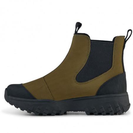 Woden Gummistøvler, Magda Rubber Track, Dark Olive/Black, gummistøvler til kvinder - indersiden