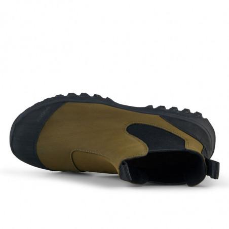 Woden Gummistøvler, Magda Rubber Track, Dark Olive/Black, gummistøvler til kvinder - oppe fra